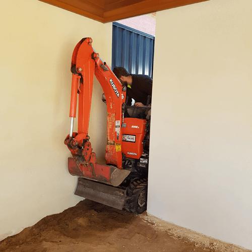 book mini excavator perth