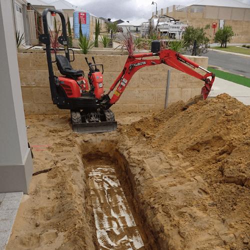 mini excavator hire perth