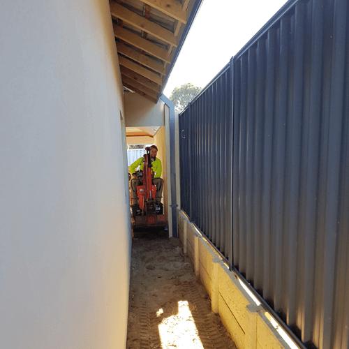restricted access mini excavator